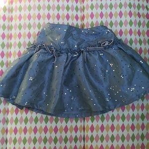 Silver sparkles tutu skirt
